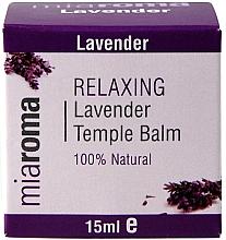 Парфюмерия и Козметика Балсам за лице с етерично масло от лавандула - Holland & Barrett Miaroma Relaxing Lavender Temple Balm