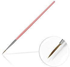 Парфюмерия и Козметика Четка за декорация на маникюр, 10 мм Pink - Silcare Brush 02