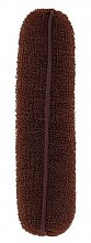 Парфюми, Парфюмерия, козметика Гъба за кок в кафяв цвят 150 мм - Lussoni Hair Bun Roll Brown