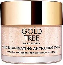 Парфюми, Парфюмерия, козметика Озаряващ крем против стареене за лице - Gold Tree Barcelona Gold Illuminating Anti-Ageing Cream