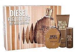 Парфюми, Парфюмерия, козметика Diesel Fuel for Life Homme - Комплект (edt/75ml + sh/gel/100ml + sh/gel/50ml)