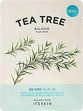Парфюмерия и Козметика Маска за лице с чаено дърво от плат - It's Skin The Fresh Mask Sheet Tea Tree