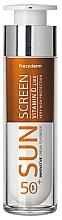Парфюмерия и Козметика Слънцезащитен крем за лице - Frezyderm Sun Screen Vitamin D Like Skin Benefits Cream to Powder SPF50+