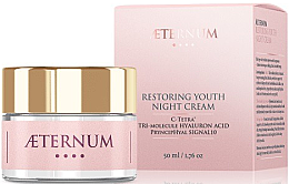 Парфюми, Парфюмерия, козметика Нощен възстановяващ крем за лице - Aeternum Restoring Youth Night Cream