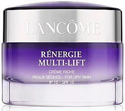 Парфюми, Парфюмерия, козметика Дневен крем за суха кожа с лифтинг ефект SPF15 - Lancome Renergie Multi-Lift Day Cream Dry Skin SPF15 (тестер)