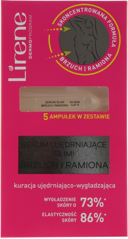 Укрепващ серум за корем и ръце - Lirene Slim Firming Serum Belly And Arms