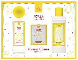 Парфюмерия и Козметика Alvarez Gomez Agua de Colonia Para Ninos - Комплект (одеколон/175ml + кърпички/10 бр + лос. за тяло/300ml)