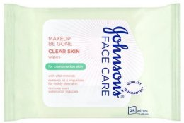 Парфюми, Парфюмерия, козметика Мокри кърпички - Johnson's Face Care Clear Skin Wipes