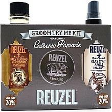 Парфюмерия и Козметика Комплект за коса - Reuzel Extreme Hold Try Me Kit (помада/35g + спрей/100ml + шамп./100ml)