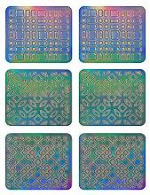 Парфюмерия и Козметика Лепенки за нокти, 3708 - Neess Patternness