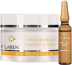 Парфюми, Парфюмерия, козметика Крем със 100% активен витамин С и копринен екстракт - Clarena Power Cream 100% Vit C Aa2g