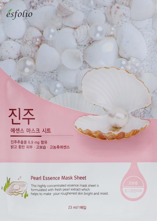 Памучна маска за лице с екстракт от перла - Esfolio Pearl Essence Mask Sheet