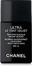 Парфюмерия и Козметика Ултра лек дълготраен флуиден фон дьо тен - Chanel Ultra Le Teint Velvet SPF 15