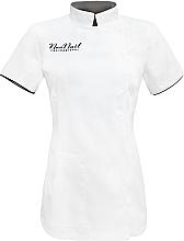 Парфюмерия и Козметика Козметична престилка, размер L, бяла - NeoNail Professional