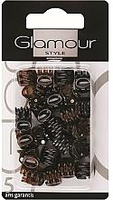 Парфюмерия и Козметика Щипки за коса , 0222 , черно-кафяви - Glamour