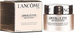 Парфюмерия и Козметика Околоочен крем - Lancome Absolue Eye Precious Cells Repairing and Rejuvanating Eye Cream