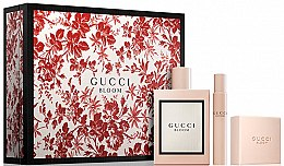 Парфюмерия и Козметика Gucci Bloom - Комплект (парф. вода/100ml + сапун/100g + парф. вода/мини/7.4ml)