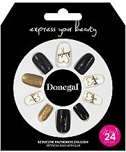 Парфюмерия и Козметика Комплект за изкуствен маникюр с лепило, 3056 - Donegal Express Your Beauty
