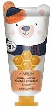 Парфюмерия и Козметика Защитна крем-маска за ръце и нокти - Marion Funny Animals Hand Cream Mask