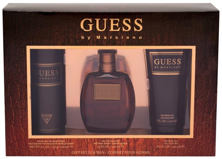 Guess by Marciano - Комплект (тоал. вода/100ml + душ гел/200ml + део/226ml) — снимка N1