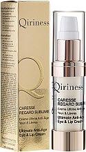 Парфюми, Парфюмерия, козметика Антистраеещ крем за околоочния контур - Qiriness Caresse Regard Sublime