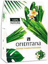 Парфюми, Парфюмерия, козметика Комплект за тяло - Orientana Lemon Grass (масло/100ml + балсам/60g + маска за очи/2pad)