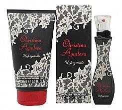 Парфюмерия и Козметика Christina Aguilera Unforgettable - Комплект (edp/30ml + b/lot/150ml)