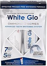Парфюмерия и Козметика Комплект за избелване на зъби - White Glo Diamond Series Set (паста/100ml + гел/50ml)