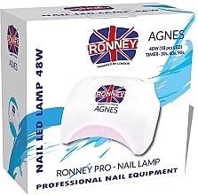Парфюмерия и Козметика Лампа LED за нокти, бяла - Ronney Profesional Agnes Pro LED 48W (GY-LED-032)