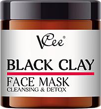 Парфюмерия и Козметика Маска за лице с черна глина - VCee Black Clay Face Mask Cleansing&Detox