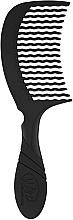 Парфюмерия и Козметика Гребен за коса, черен - Wet Brush Pro Detangling Comb Black