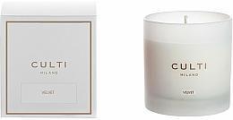 Парфюмерия и Козметика Ароматна свещ - Culti Milano Candle Bianco Velvet
