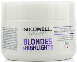 Парфюми, Парфюмерия, козметика Маска за изрусена и боядисана на кичури коса - Goldwell Dualsenses Blondes & Highlights 60sec Treatment