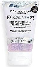 Парфюмерия и Козметика Пилинг маска за лице - Revolution Skincare Face Off! Holographic Sparkle Peel Off Face Mask