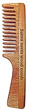 Парфюми, Парфюмерия, козметика Дървен гребен за коса - Sattva Neem Wood Comb