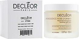 Парфюмерия и Козметика Нощен арома балсам за лице за чувствителна кожа - Decleor Baume Rose d'Orient (тестер)