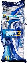 Парфюмерия и Козметика Комплект самобръсначки за еднократна употреба, 4бр - Gillette Blue 3 Simple (4 бр.)