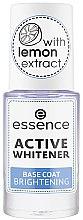 Парфюмерия и Козметика Избелваща основа за нокти - Essence Active Whitener Base Coat Brightening