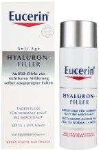 Парфюми, Парфюмерия, козметика Дневен крем против бръчки за нормална и комбинирана кожа - Eucerin Hyaluron-Filler Day Cream For Normal To Combination Skin