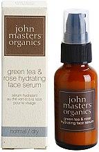 """Парфюми, Парфюмерия, козметика Хидратиращ серум за лице """"Зелен чай и роза"""" - John Masters Organics Green Tea & Rose Hydrating Face Serum"""