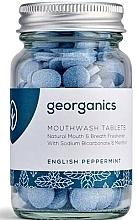 """Парфюмерия и Козметика Таблетки за почистване на устна кухина """"Английска мента"""" - Georganics Natural Mouthwash Tablets English Peppermint"""