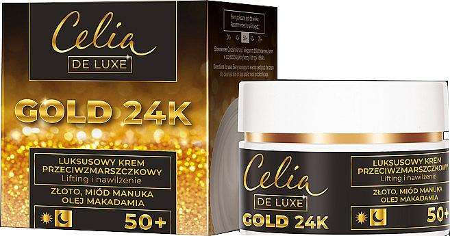 Крем против бръчки 50+ - Celia De Luxe Gold 24k
