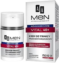 Парфюмерия и Козметика Крем за лице против бръчки - AA Men Advanced Care Vital 40+ Face Cream Anti-Wrinkle