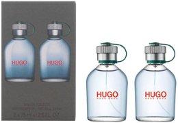 Парфюми, Парфюмерия, козметика Hugo Boss Hugo Men - Комплект (edt/75ml + edt/75ml)
