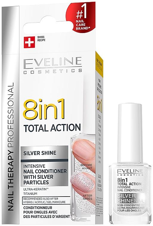 Възстановяващ лак за нокти 8в1 - Eveline Cosmetics 8in1 Silver Shine Nail Therapy