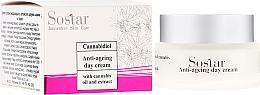 Парфюмерия и Козметика Антистареещ дневен крем за лице с екстракт от коноп - Sostar Cannabidiol Anti Ageing Day Cream With Cannabis Extract