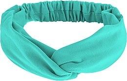 """Парфюмерия и Козметика Лента за глава, от плат, мента """"Knit Twist"""" - MakeUp Hair Accessories"""