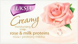 "Парфюмерия и Козметика Крем-сапун ""Роза и млечни протеини - Luksja Creamy Rose & Milk Proteins Soap"