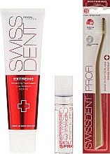 Комплект несесер, спрей за уста, паста за зъби и четка за зъби - Swissdent Extreme Promo Kit (toothpaste/50ml+mouth/spr/9ml+soft/toothbrush/1pc+bag) — снимка N2