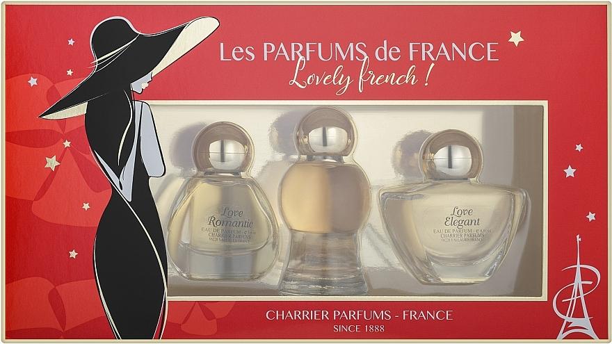 Charrier Parfums Lovely French - Комплект парфюмна вода (edp/8.9ml + edp/10.5ml + edp/5.6ml)
